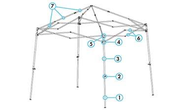 Ez Up Canopy Shelter Parts