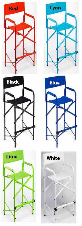 E Z Up Directors Chair Tall Black